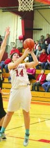 Alli Lake, daughter of Bridget and John Lake and a senior on the Potter County Lady Battler basketball team, scored her 1,000th point in her high school varsity basketball career during the overtime game against Ipswich last week in the district tournament.